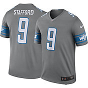 Nike Men's Detroit Lions Matthew Stafford #9 Grey Legend Jersey