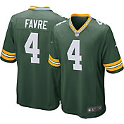 Nike Men's Home Game Jersey Green Bay Packers Brett Favre #4