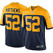 Nike Men's Alternate Game Jersey Green Bay Packers Clay Matthews #52