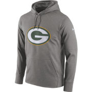 Nike Men's Green Bay Packers Performance Circuit Logo Essential Grey Hoodie