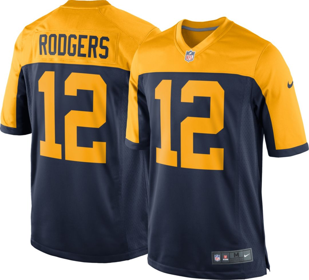 quality design 19f88 dea70 Nike Men's Alternate Game Jersey Green Bay Packers Aaron Rodgers #12