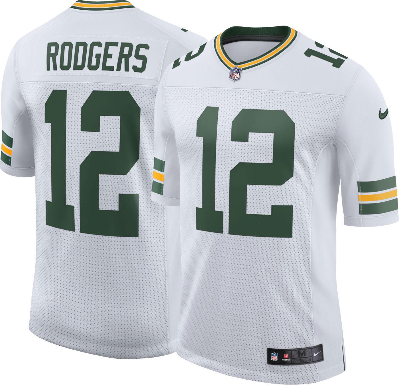 Nike Men's Away Limited Jersey Green Bay Packers Aaron Rodgers #12