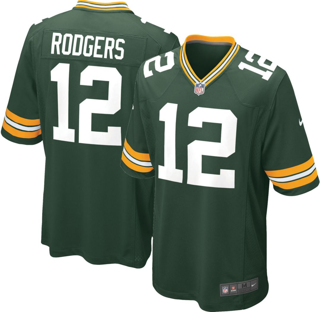 new product 6cb3c 5d2db Nike Men's Home Game Jersey Green Bay Packers Aaron Rodgers #12