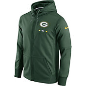 Nike Men's Green Bay Packers Sideline 2017 Therma-FIT Full-Zip Green Hoodie