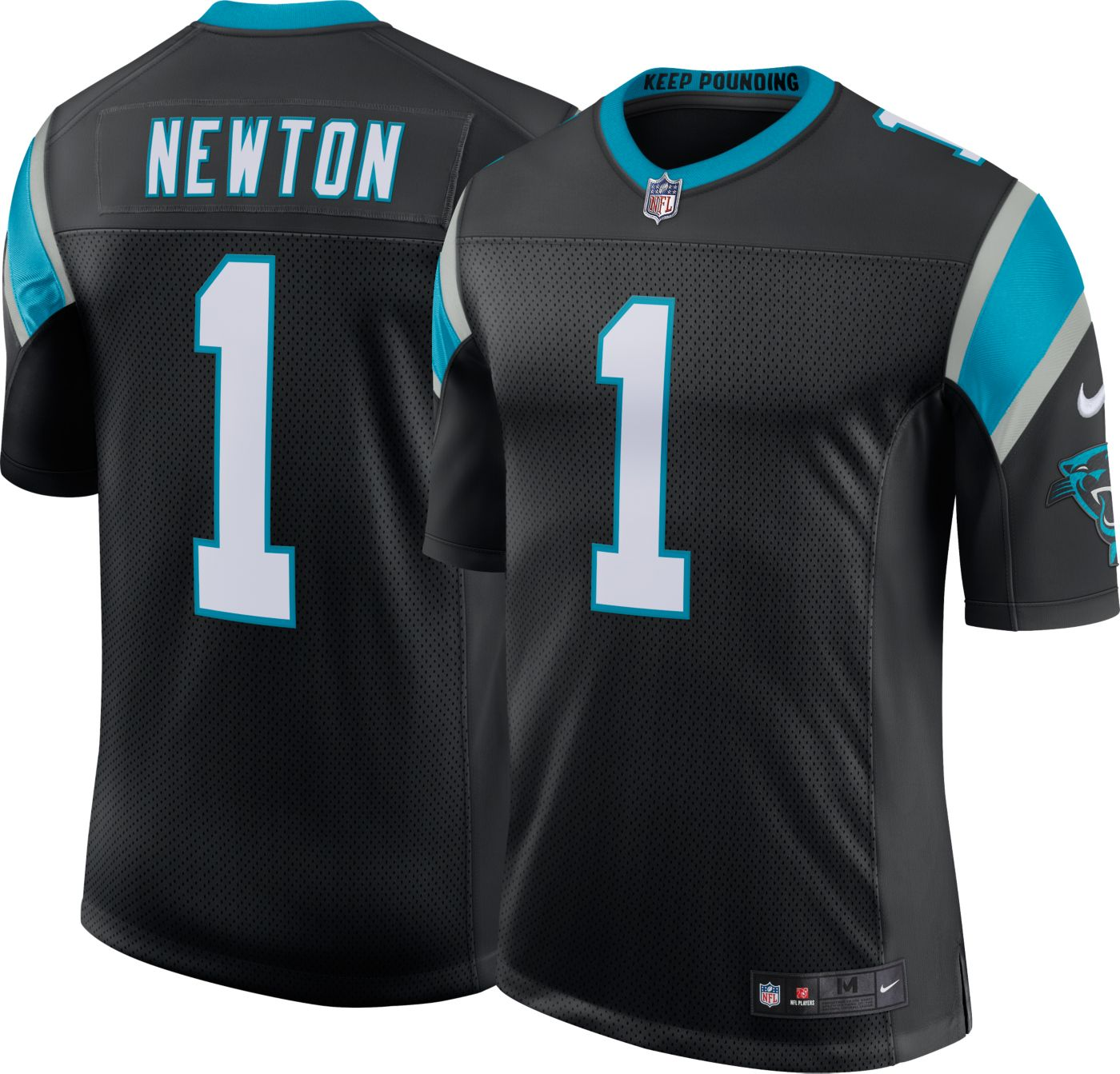 Nike Men's Home Limited Jersey Carolina Panthers Cam Newton #1