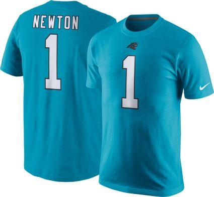Nike Men s Carolina Panthers Cam Newton  1 Pride Blue T-Shirt ... 3962adb9e