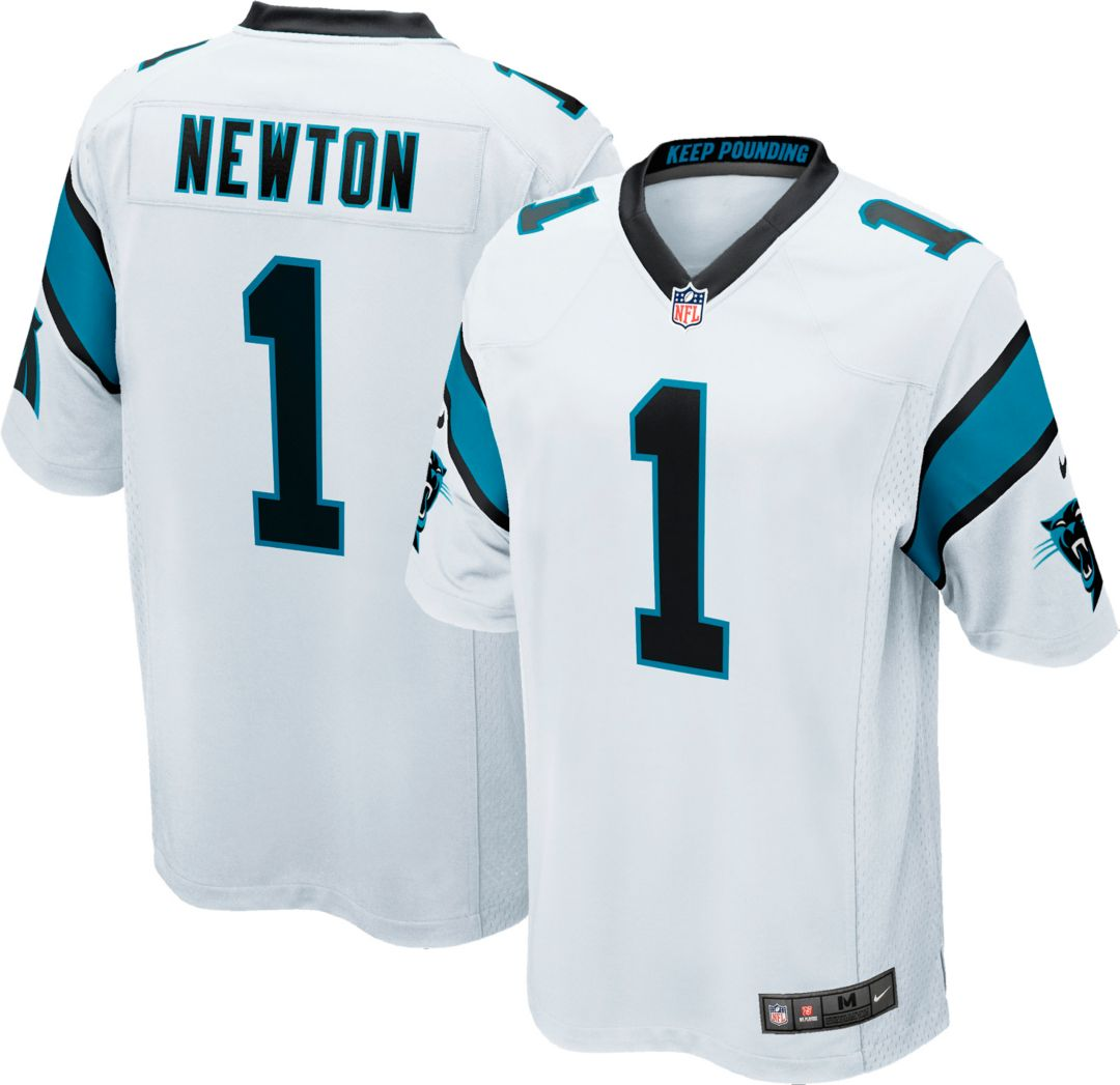 huge selection of f31a2 2cdd4 Nike Men's Away Game Jersey Carolina Panthers Cam Newton #1