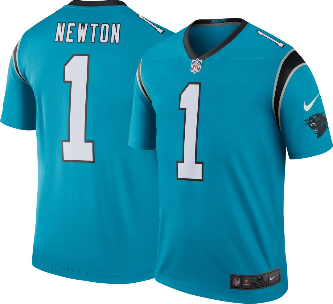 buy online b8847 74a95 Nike Men's Color Rush Carolina Panthers Cam Newton #1 Legend Jersey