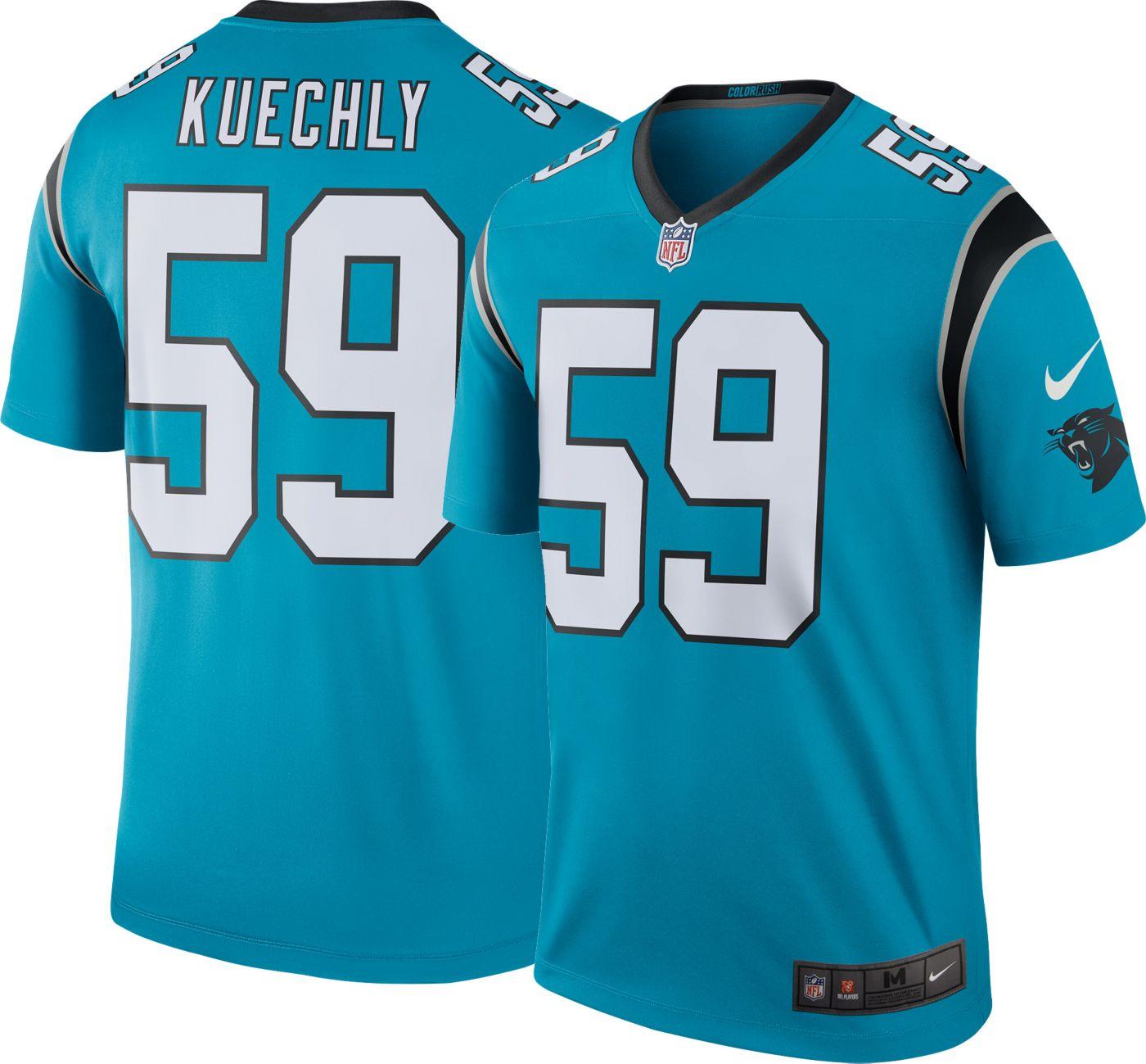 Nike Men's Color Rush Carolina Panthers Luke Kuechly #59 Legend Jersey