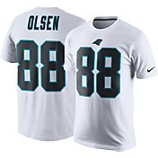 Nike Men's Carolina Panthers Greg Olsen #88 Pride White T-Shirt