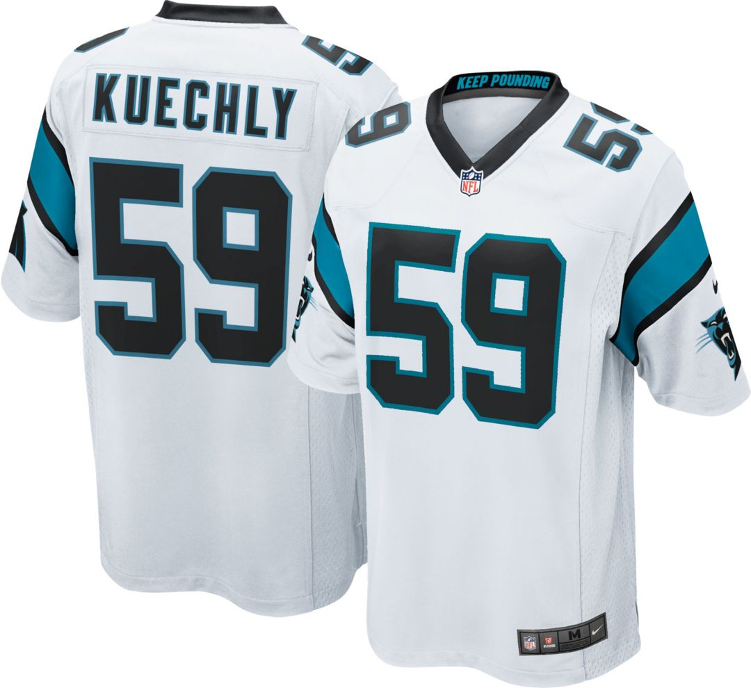 size 40 b4b32 05251 Nike Men's Away Game Jersey Carolina Panthers Luke Kuechly #59