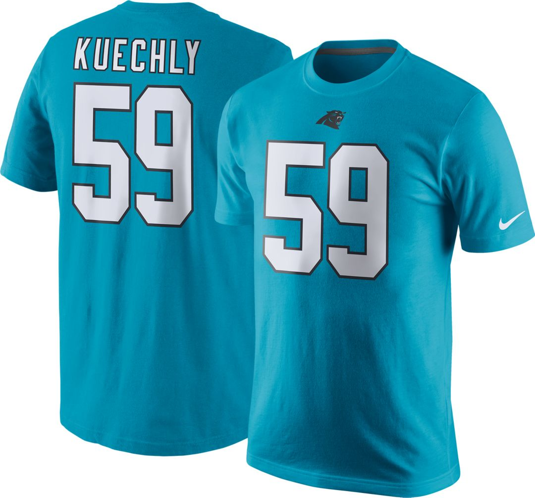 classic 0fa67 6f352 Nike Men's Carolina Panthers Luke Kuechly #59 Pride Blue T-Shirt