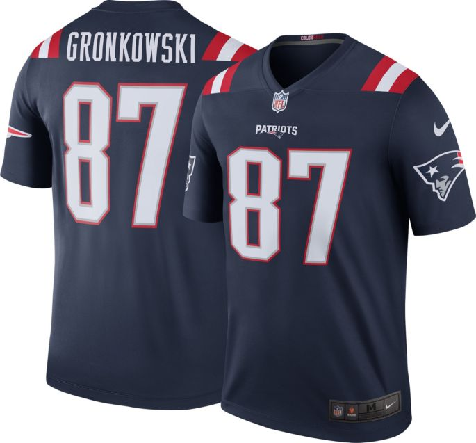 the latest 63476 d4710 Nike Men's Color Rush New England Patriots Rob Gronkowski #87 Legend Jersey