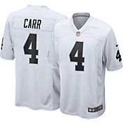 Nike Men's Las Vegas Raiders Derek Carr #4 White Game Jersey
