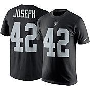 Nike Men's Las Vegas Raiders Karl Joseph #42 Logo Black T-Shirt