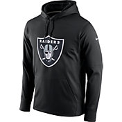 Nike Men's Oakland Raiders Performance Circuit Logo Essential Black Hoodie