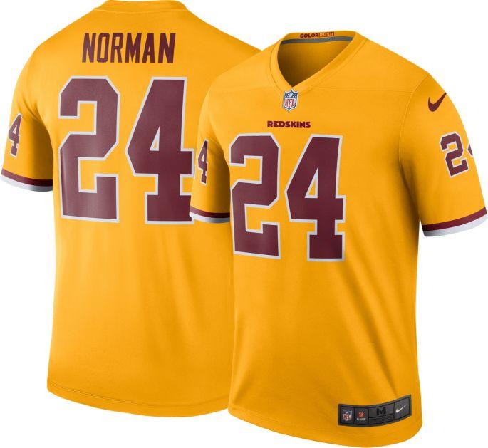 sports shoes de23e 793a1 Nike Men's Color Rush Legend Jersey Washington Redskins Josh Norman #24