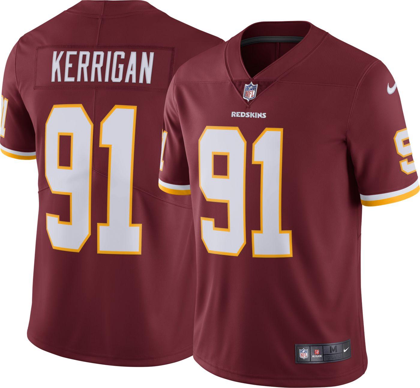 Nike Men's Home Limited Jersey Washington Redskins Ryan Kerrigan #91