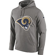 Nike Men's Los Angeles Rams Circuit Logo Grey Pullover Hoodie