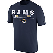 Nike Men's Los Angeles Rams Sideline 2017 Legend Staff Performance Navy T-Shirt