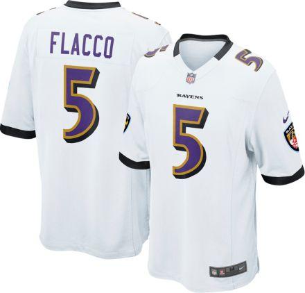 790140edd Nike Men  39 s Away Game Jersey Baltimore Ravens Joe Flacco  5