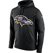 Nike Men's Baltimore Ravens Performance Circuit Logo Essential Black Hoodie