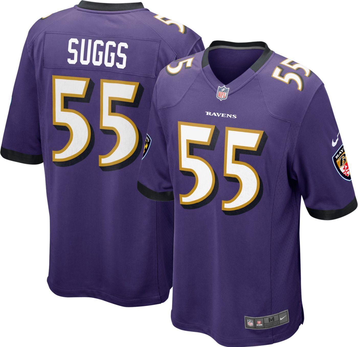 Nike Men's Home Game Jersey Baltimore Ravens Terrell Suggs #55