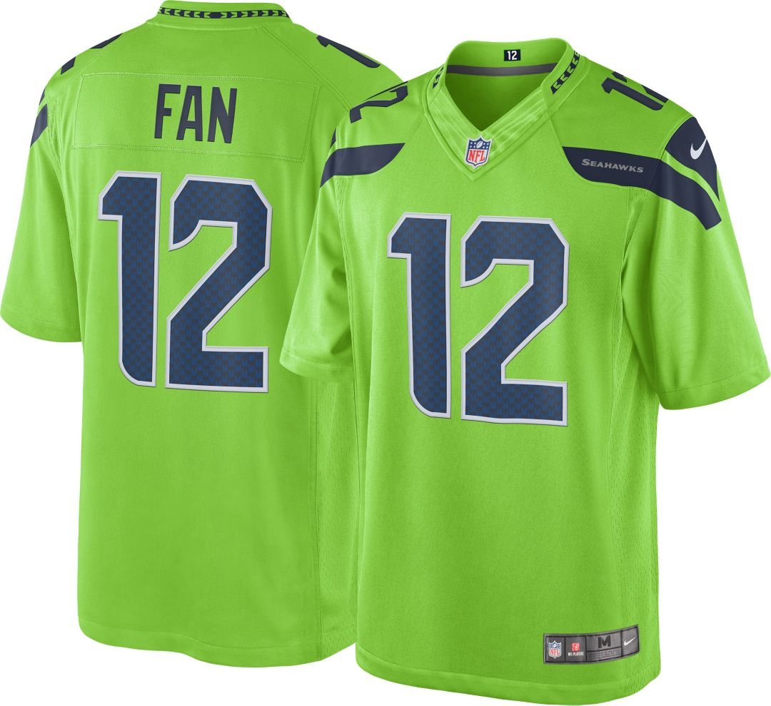 timeless design ceb60 43942 Nike Men's Color Rush Limited Jersey Seattle Seahawks Fan #12