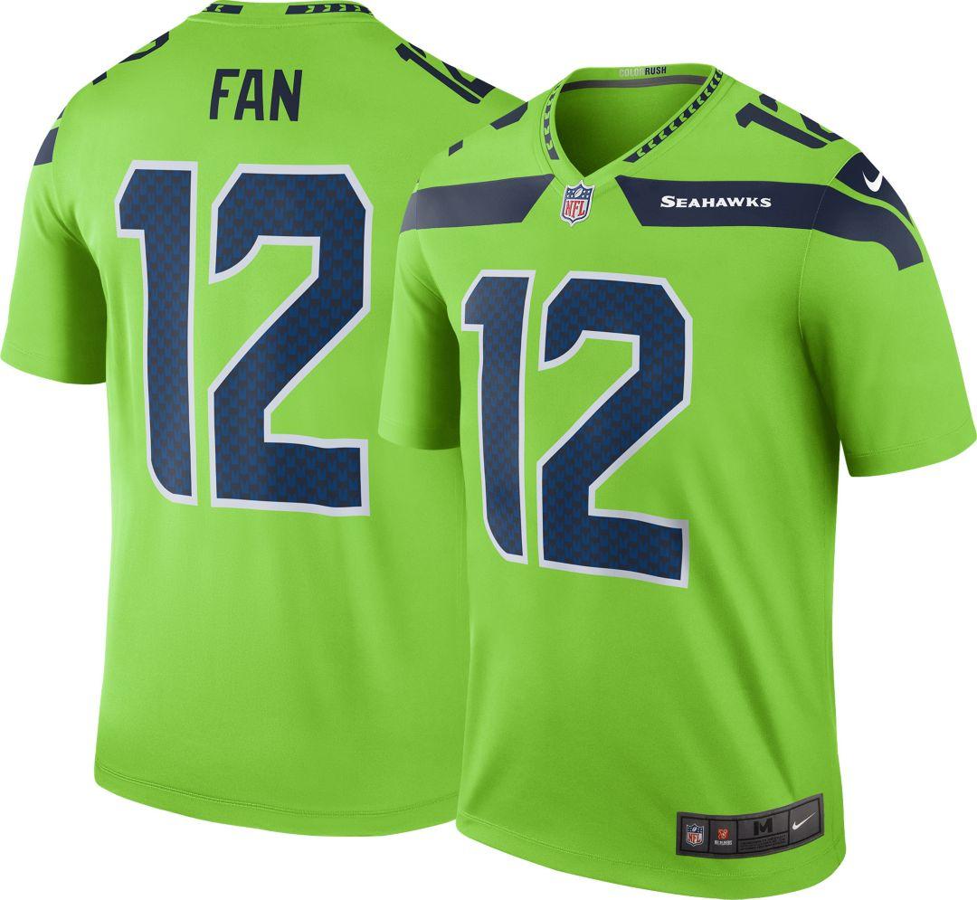 eef74019 Nike Men's Color Rush Seattle Seahawks Fan #12 Legend Jersey
