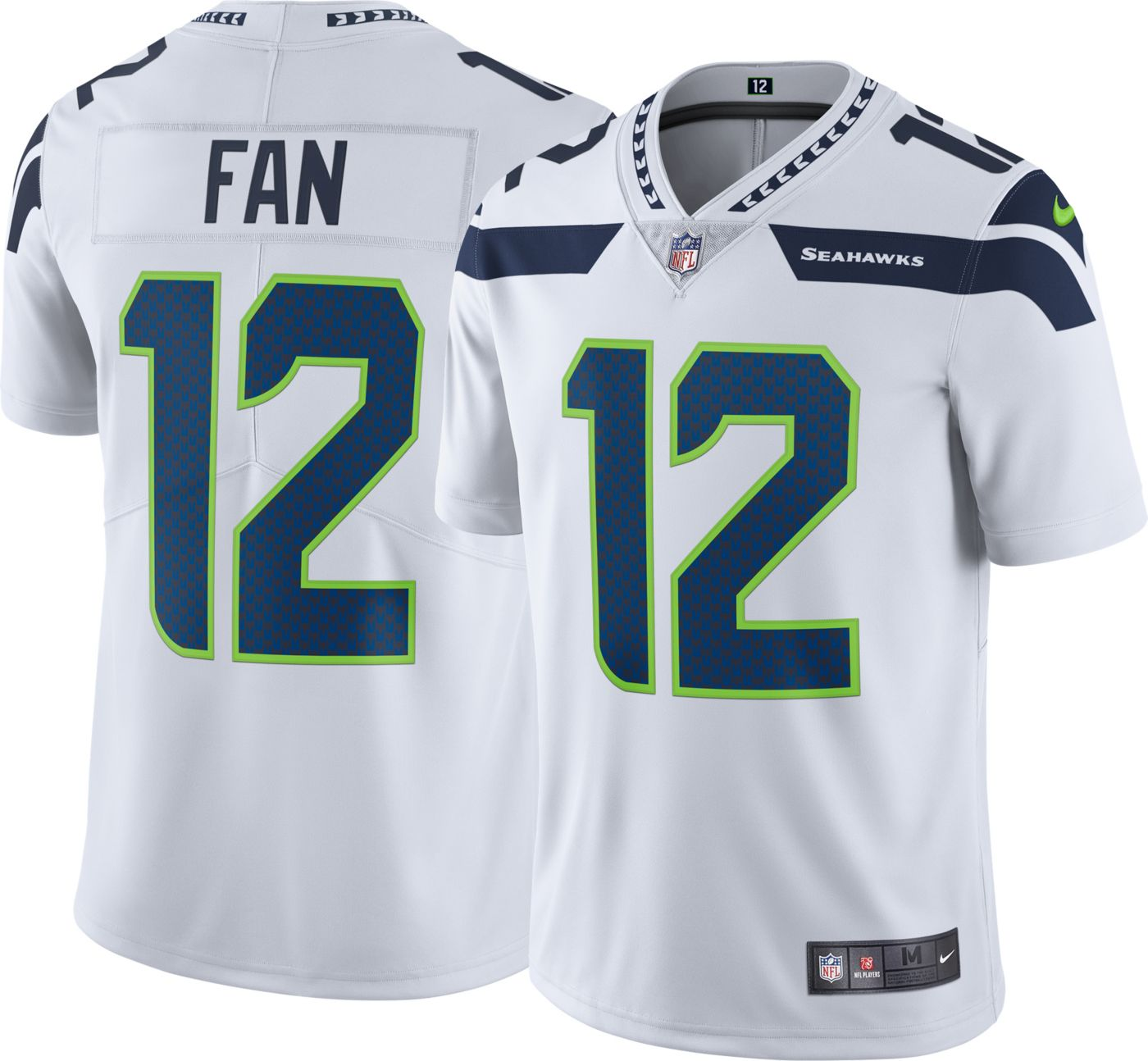 Nike Men's Away Limited Jersey Seattle Seahawks Fan #12