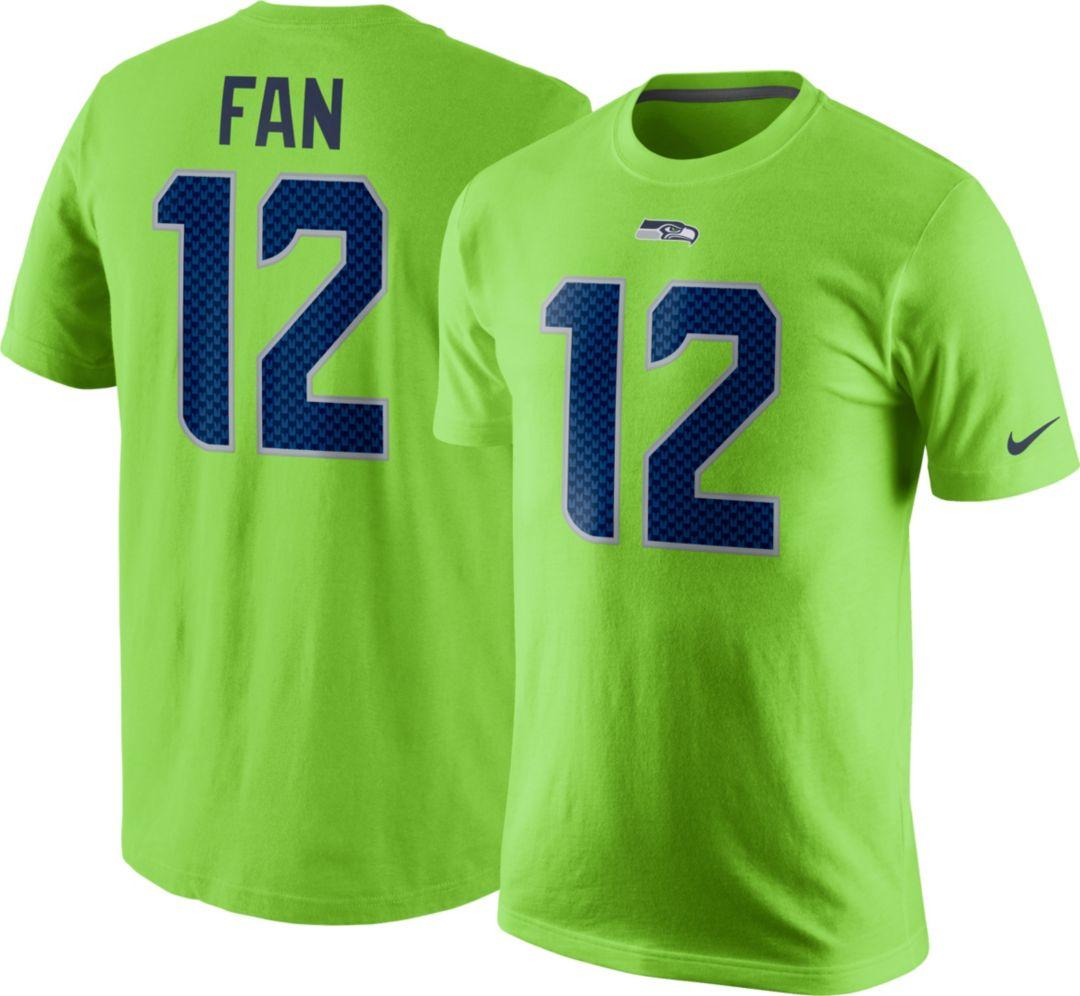 buy online 522c1 58333 Nike Men's Seattle Seahawks Fan #12 Green T-Shirt | DICK'S ...
