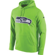 Nike Men's Seattle Seahawks Performance Circuit Logo Essential Green Hoodie