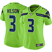 Nike Women's Color Rush Limited Jersey Seattle Seahawks Russell Wilson #3