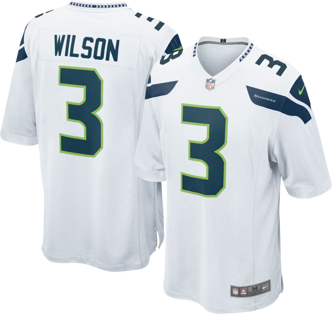6713a7ce61e Nike Men's Away Game Jersey Seattle Seahawks Russell Wilson #3 ...