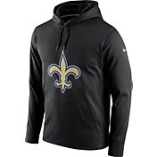 Nike Men's New Orleans Saints Performance Circuit Logo Essential Black Hoodie