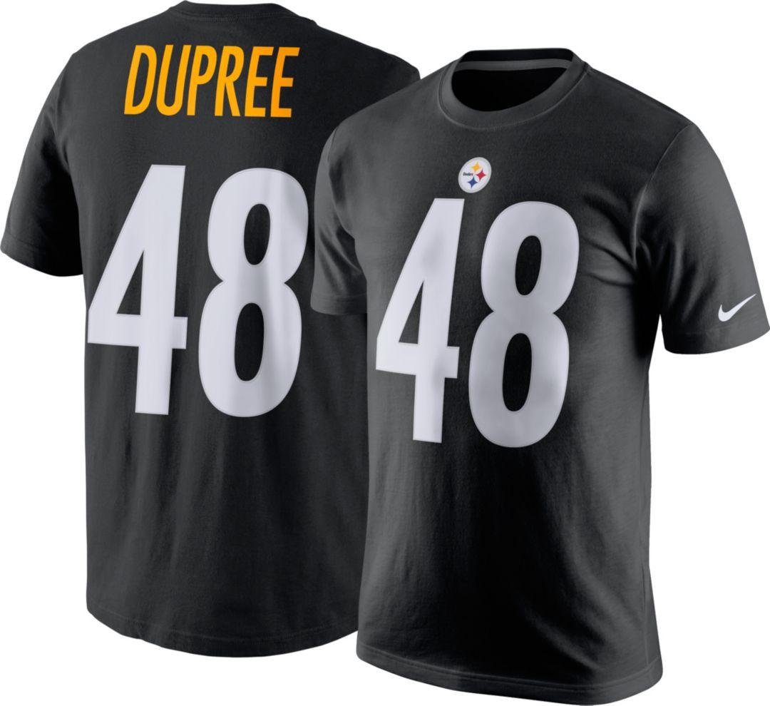 new products 61dc1 6676c Nike Men's Pittsburgh Steelers Bud Dupree #48 Pride Black T-Shirt