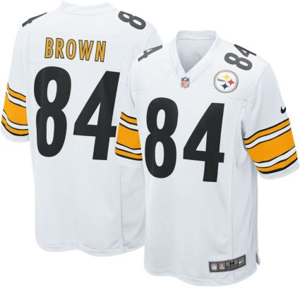 Nike Men s Away Game Jersey Pittsburgh Steelers Antonio Brown  84 ... e190bfd149a