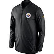 Nike Men's Pittsburgh Steelers Sideline 2017 Lockdown Black Half-Zip Performance Jacket