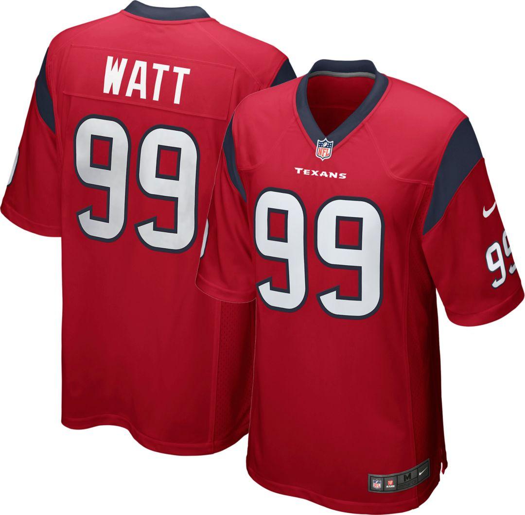 online store 733eb acbd4 Nike Men's Alternate Game Jersey Houston Texans J.J. Watt #99