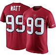 Nike Men's Houston Texans J.J. Watt #99 Pride Red T-Shirt