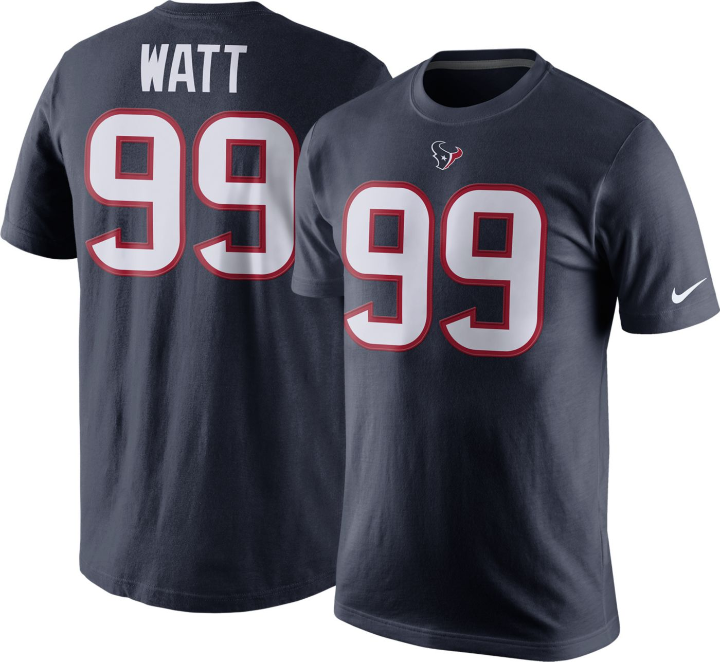 Nike Men's Houston Texans J.J. Watt #99 Pride Navy T-Shirt