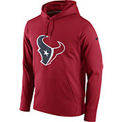 Nike Men's Houston Texans Performance Circuit Logo Essential Red Hoodie