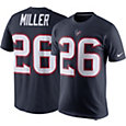 Nike Men's Houston Texans Lamar Miller #26 Pride Navy T-Shirt