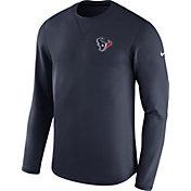 Nike Men's Houston Texans Sideline 2017 Modern Crew Navy Long Sleeve Top