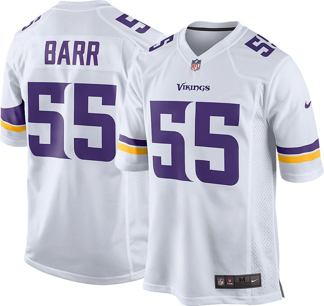 dc9a8270d Nike Men s Away Game Jersey Minnesota Vikings Anthony Barr  55 ...