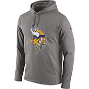 Nike Men's Minnesota Vikings Performance Circuit Logo Essential Grey Hoodie