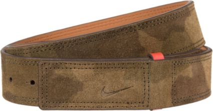 Nike Sleek Modern Covered Plaque Suede Belt