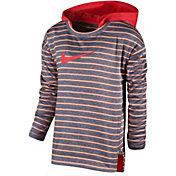 Nike Toddler Girls' Therma-FIT Heather Stripe Hoodie