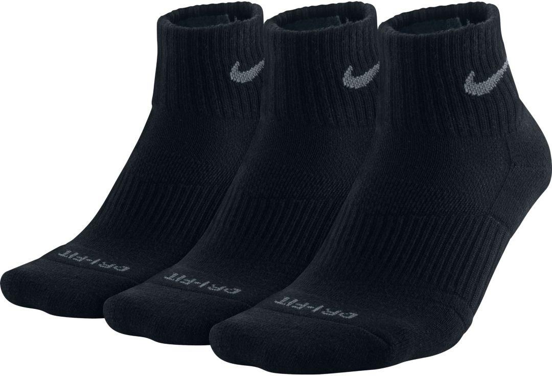 super popular 8e5b2 b5195 Nike Dri-FIT Cushion Quarter Socks 3 Pack 1