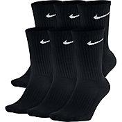 Nike Cotton Crew Socks 6 Pack